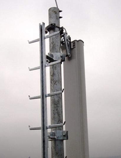 stały system instalowany na drabinach - pionowy system szynowy